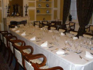 Evening meal in the louis XIV Dining room.