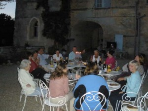 Evening meal on the terrace
